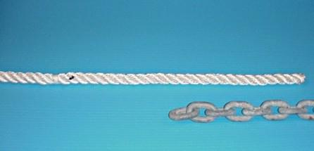 chain rope splice step1