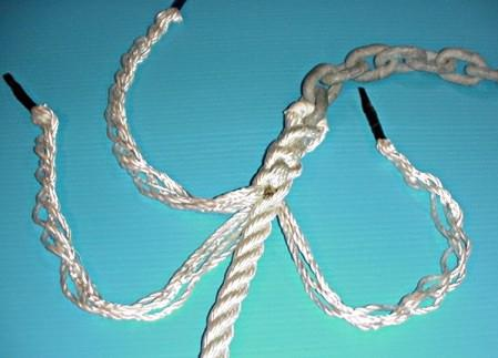 chain rope splice step5